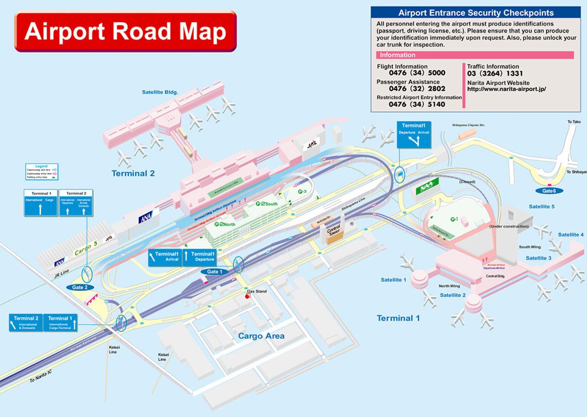 Image Gallery narita airport map english