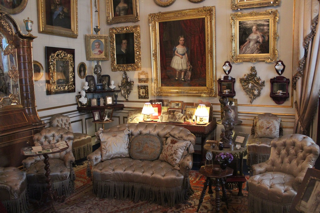 Salón privado de la Reina Louise. Palacio de Amalienborg 15