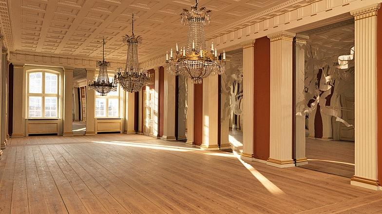 Salón de los espejos. Palacio de Amalienborg 18