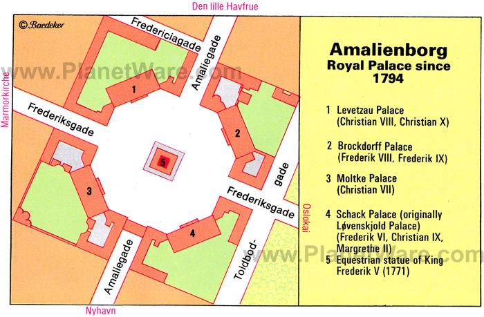 Mapa. Palacio de Amalienborg 3