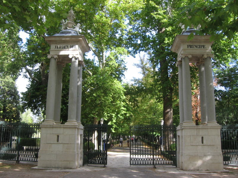 Jardín del Príncipe entrada principal. Palacio Real de Aranjuez 6