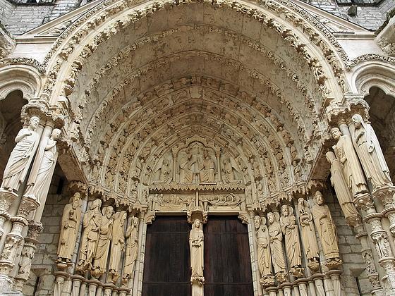 Pórtico norte. Catedral de Chartres 7