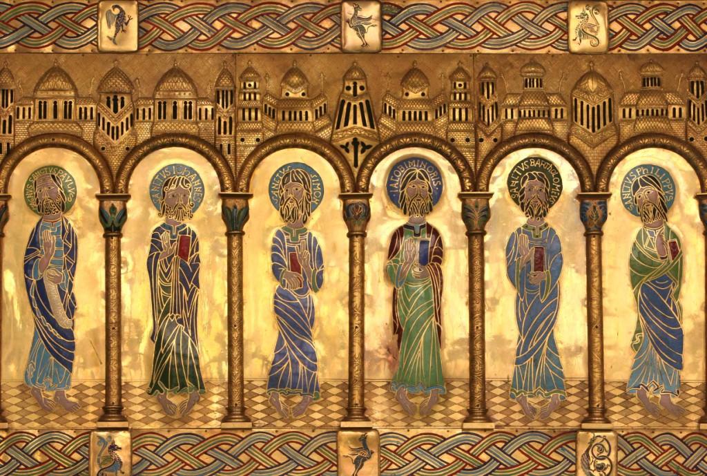 Detalle del Frontal del sepulcro del Santo. Monasterio de Santo Domingo de Silos 17