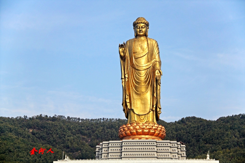 Buda del Templo de Primavera 中原大佛, estatua de 128 metros de altura  Spring Temple Buddha  statue 128 meters high