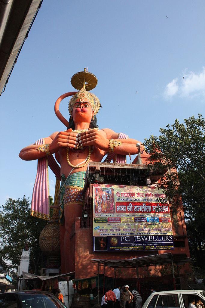 Estatua de Hanuman en Nueva Delhi 2