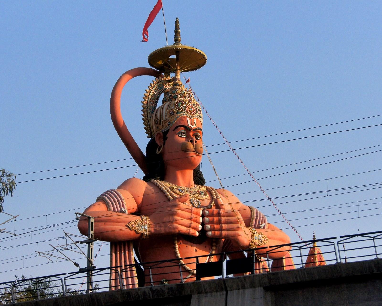 Estatua de Hanuman en Nueva Delhi 7
