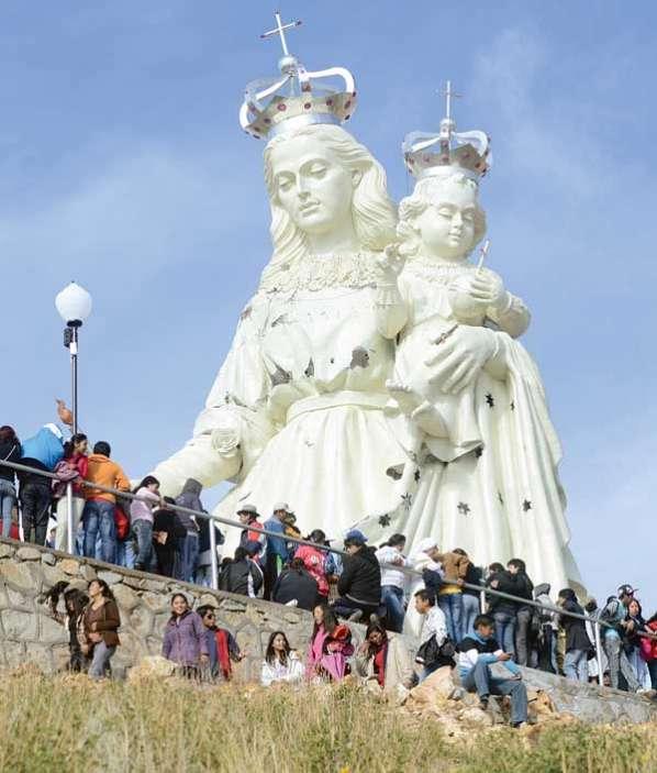 Monumento a la Virgen del Socavón, Monumento a la Virgen