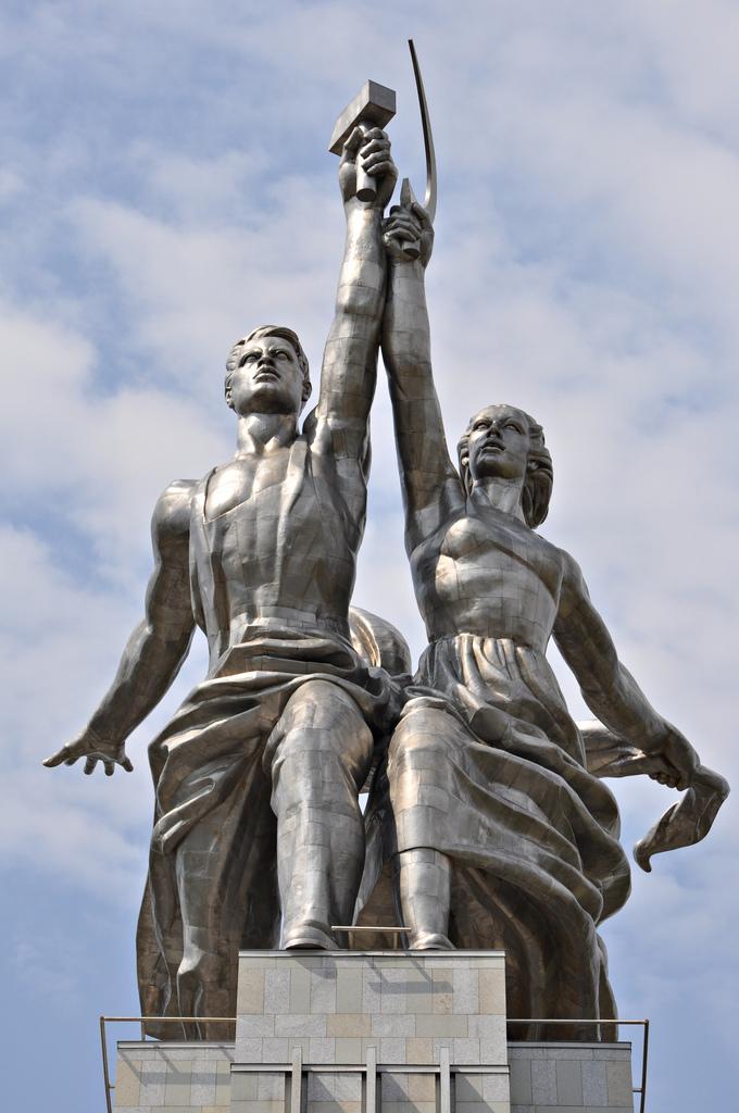 El arte en Rusia. Worker-kolkhoz-woman