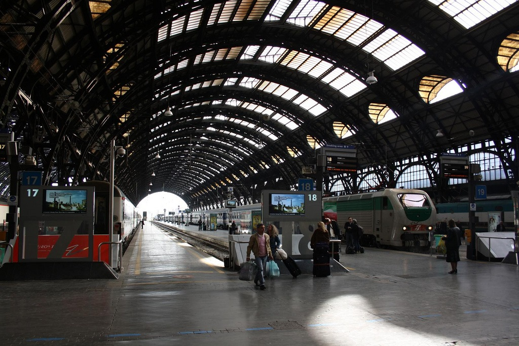 estacion de trenes en milan: