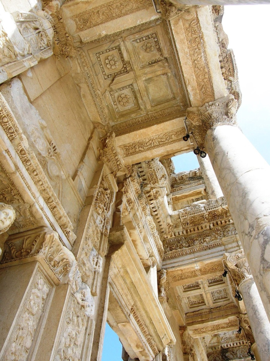 Techo de la Biblioteca de Celso. Éfeso 4