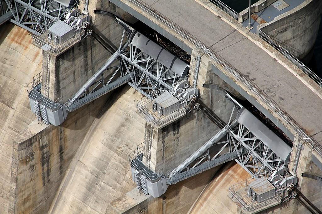 Detalle de la presa de Aldeadávila.