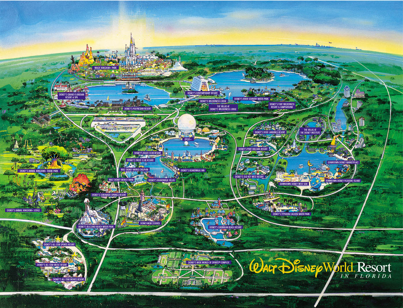 Image Result For Map Of Disneyworld And Surrounding Hotels