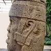 Cabeza Colosal 1 de perfil. San Lorenzo Tenochtitlán. Museo de Antropología de Xalapa. Cabezas colosales Olmecas 10
